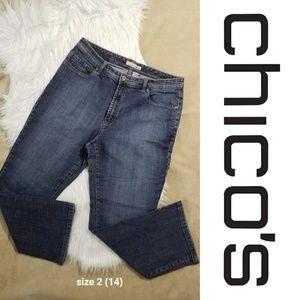 Chico's Platinum Jeans - Straight leg  Blue Stone